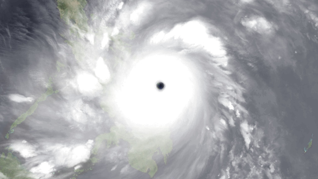 Imagen: NOAA Calicoan Island Seen Through Typhoon Haiyan's Eye
