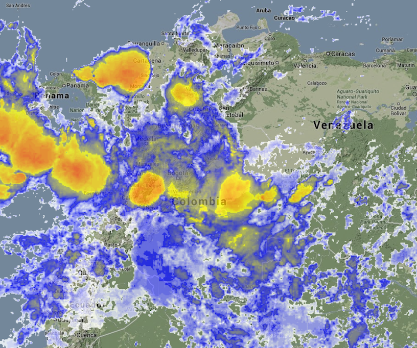 Imagen satelital Colombia