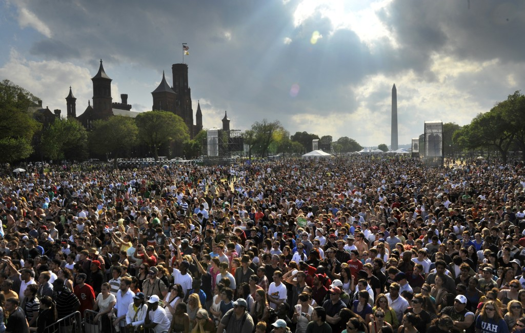 The 40th anniversary of Earth Day wraps up with a concert and rally on the Mall, in Washington, DC.