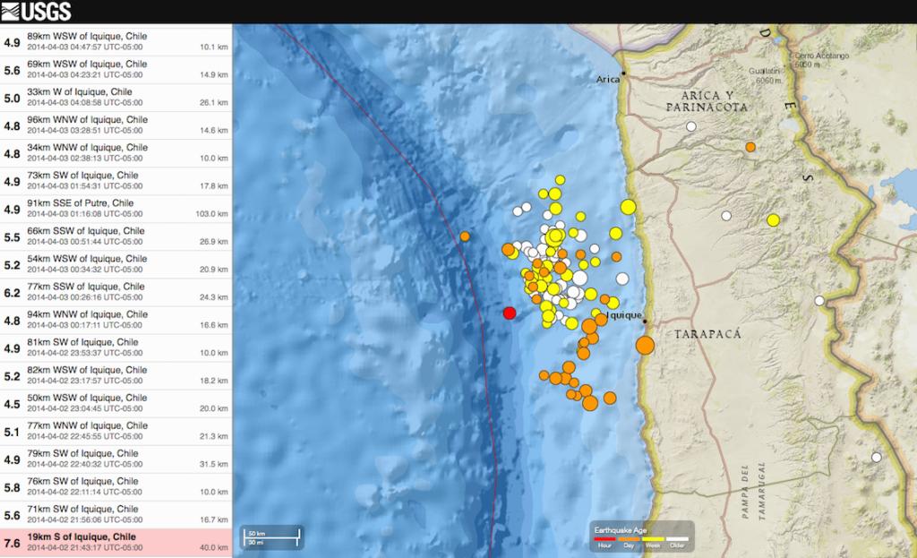 Terremotos Chile