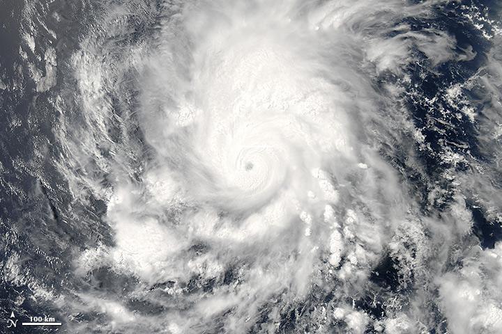 Huracán Amanda. Imagen: NASA