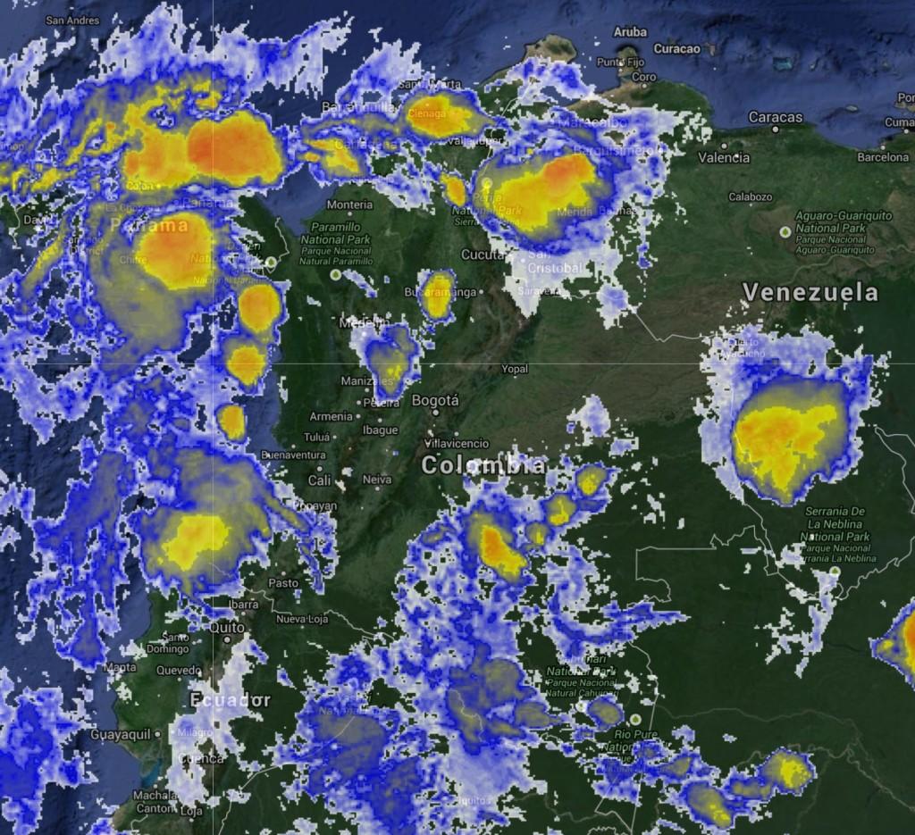 Imagen satelital de Colombia 21 mayo 2014