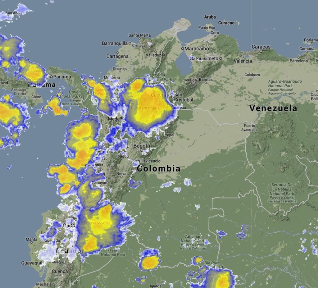 Imagen Satelital de Colombia 23052014
