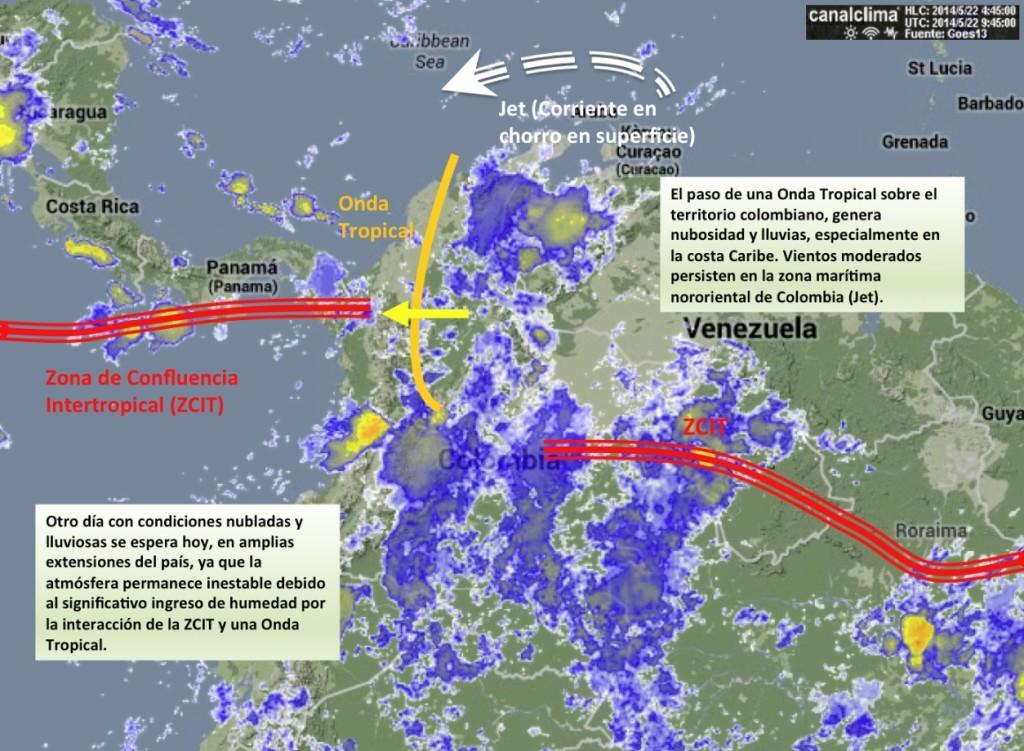Situación Meteorológica Colombia 22 mayo 2014