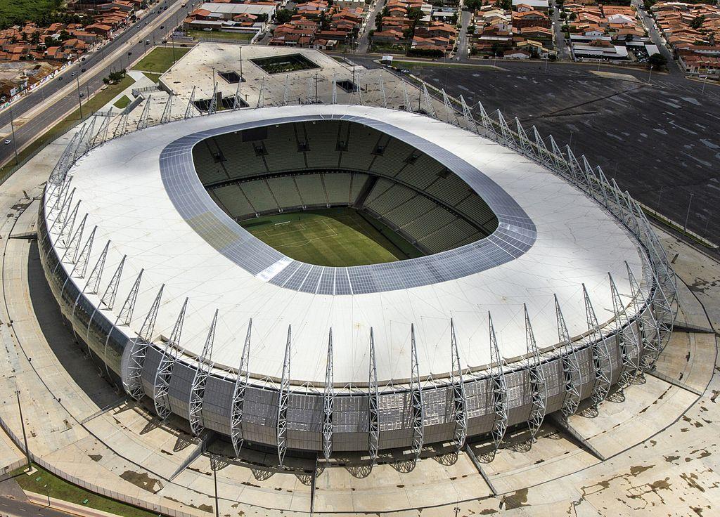 Estádio Plácido Aderaldo Castelo (Castelão) - Fortaleza Foto: Wikipedia