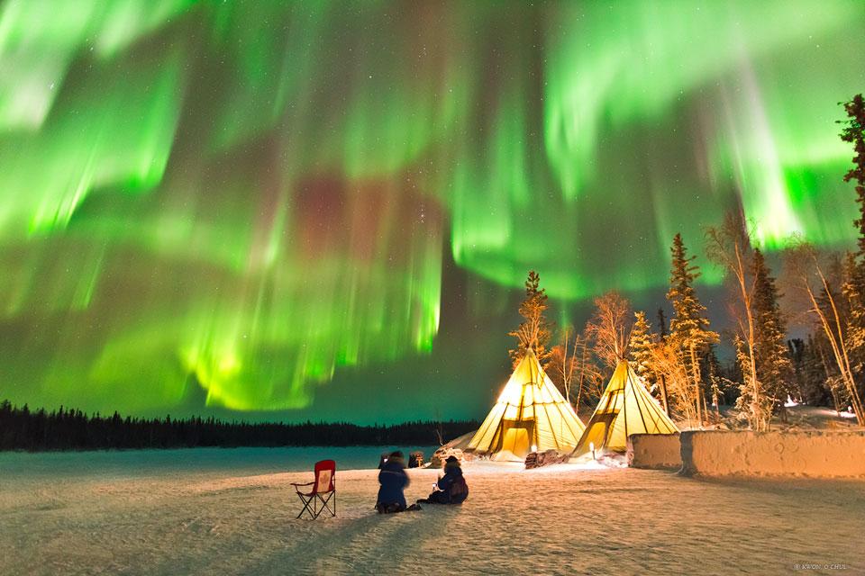 Aurora Boreal vista desde el norte de Canadá.Foto:  Kwon, O Chul (TWAN)