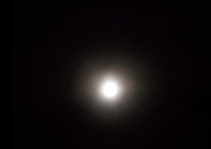 Superluna vista en Bucaramanga, Foto: Eduardo Rodriguez