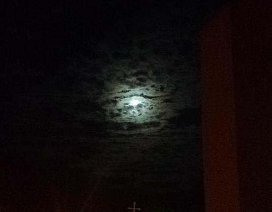 Superluna vista desde Ibagué, Foto: Mayra Tatiana