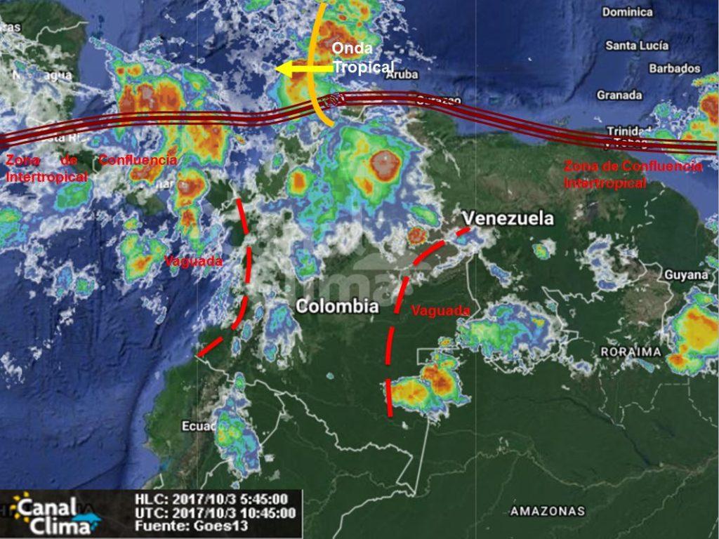 Pronóstico meteorológico para Colombia – 3 de Octubre de 2017 ...
